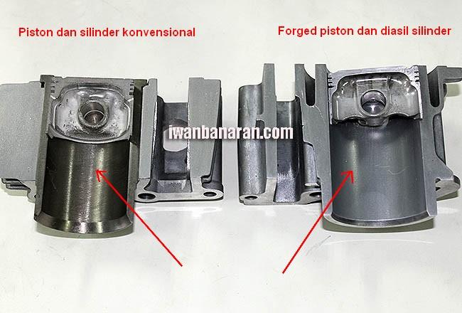 Forged Piston vs konvensional