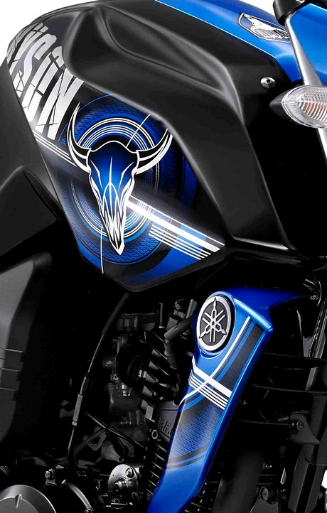 Gambar Tengkorak di Yamaha Byson terbaru