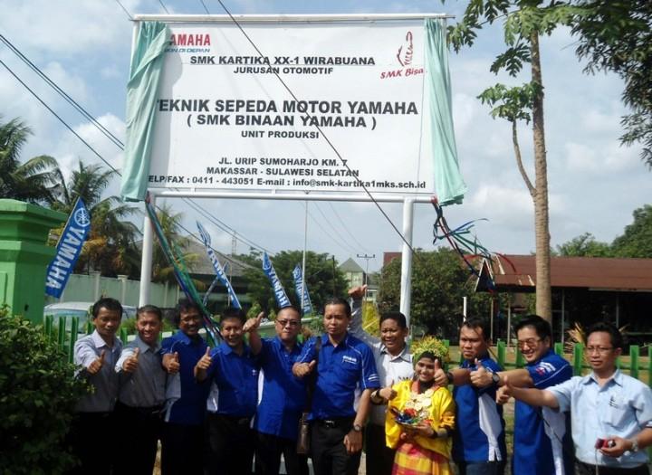 CSR Yamaha untuk SMK di seluruh Indonesia