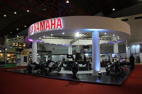 Booth Yamaha CBU DNA di Indonesia Japan Expo - JIExpo Kemayoran