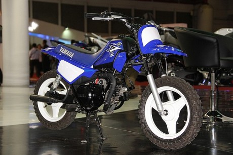 PW 50 cc di Kids corner booth Yamaha CBU DNA Indonesia Japan Expo